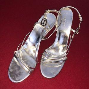 Silver Gucci Sandals
